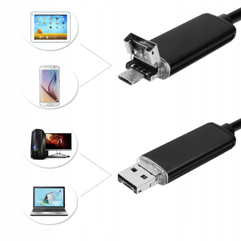 ENDOSKOP KAMERA INSPEKCYJNA ANDROID PC USB 10M LED
